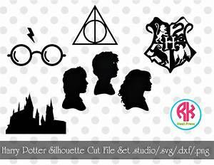 Harry Potter Silhouette Cut File Set png dxf svg