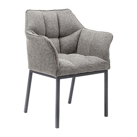 chaise pour salle a manger chaise grise avec accoudoirs pour salle collection avec