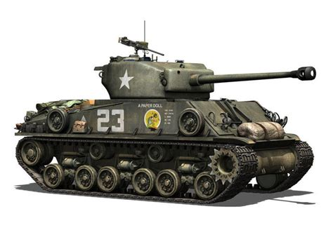 M4a3e8 Sherman  Easy Eight  A Paper Doll 3d Model Obj