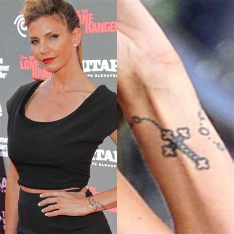 charisma carpenter rosary wrist tattoo steal  style