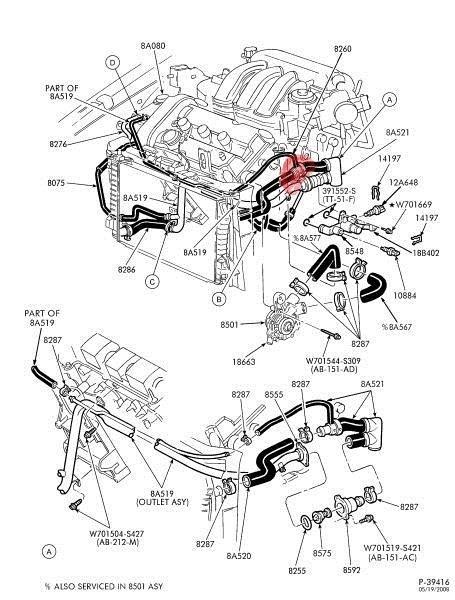 Mercury Sable Engine Diagram Automotive Parts