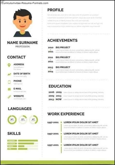 fancy resume templates  samples examples format