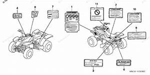 Honda Atv 2004 Oem Parts Diagram For Labels