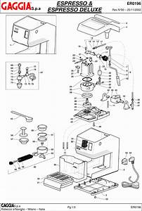 Gaggia Espresso Deluxe Parts Diagram Er0196 User Manual