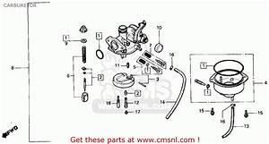 Honda Trx125 Fourtrax 125 1987  H  Usa Carburetor