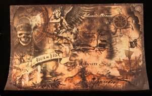 Caribbean Map Pirate Treasure