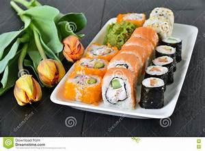 Sushi Dinner Setting Stock Photo - Image: 71458550