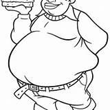 Fat Coloring Albert Boy Drawing Stupid Burger Bring Getdrawings Netart sketch template