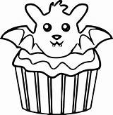 Cupcake Coloring Pages Halloween Drawing Simple Printable Cupcakes Kitty Hello Bat Muffins Muffin Getdrawings Sheets Getcolorings Clipartmag Adult Cool sketch template
