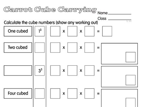 cube number worksheets year 5 cube numbers a year 5 multiplication division worksheet