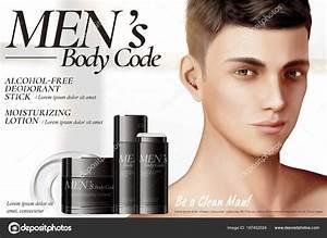 Men's skincare ads — Stock Vector © MITstudio #187452024