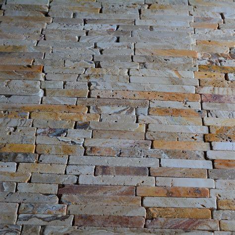 natural stone scabos travertine random brick pattern