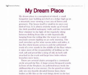 describe my dream house essay