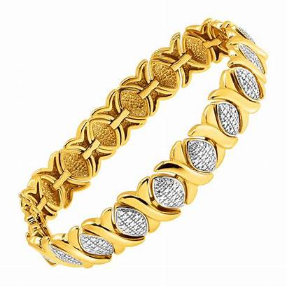 Bracelet Xo Gold Diamond Silver Plated Tone