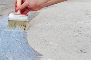 peindre sur du beton pratiquefr With peindre un mur en beton