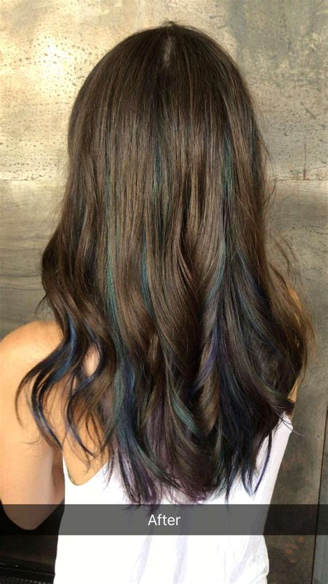 Just Got Oil Slick Hair The Brunette Is My Natural Color