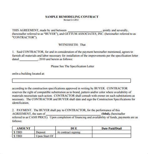 sle general contractor contract general contractor