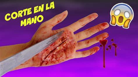 corte en la mano c 243 mo hacer sangre piel y herida falsa corte en la mano