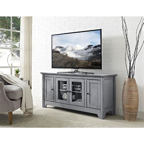 gray media cabinet walker edison furniture company 52 in antique grey