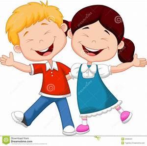 Happy children cartoon stock vector. Illustration of ...