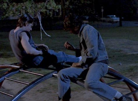 Outsiders Ponyboy and Johnny at the Park