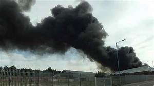 Views of Smoke Plumes from a Fire at a Plastics Recycling ...