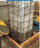 Pilastri in cemento armato Ripristino delle strutture