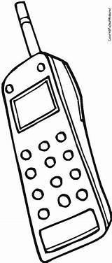 Coloring Phone Cell Megaphone Drawing Getdrawings Pages Getcolorings Printable Print sketch template