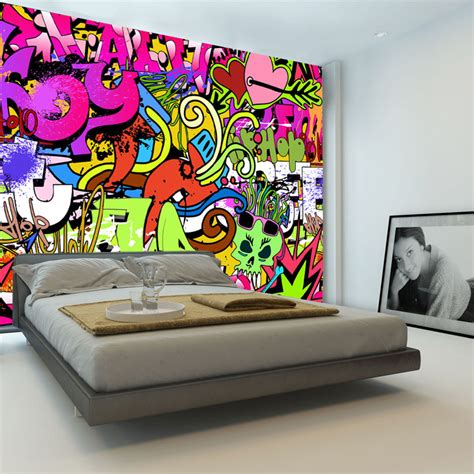 graffiti boys urban art wallpaper  photo wallpaper