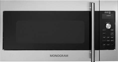 monogram zsajss   stainless steel   range  cu ft capacity microwave oven