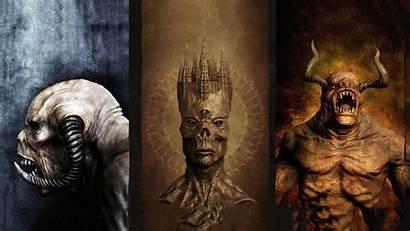 Collage Creepy Creature Horror Fangs Horns Digital