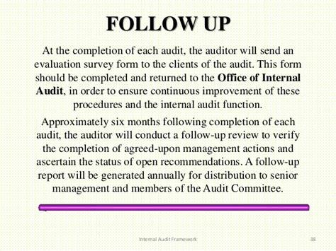 audit follow up template audit framework