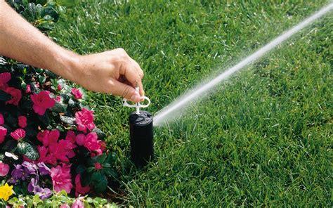 sprinkler head tuning lawn care  sprinkler learning
