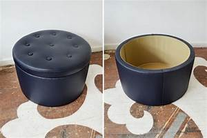 20 ottoman with storage ideas for your living room housely for How to make a round ottoman with storage