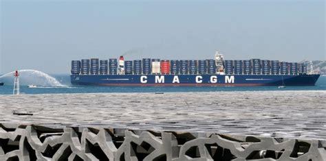 fran 231 ois hollande inaugure le presque plus gros porte conteneur du monde 4 juin 2013 l obs
