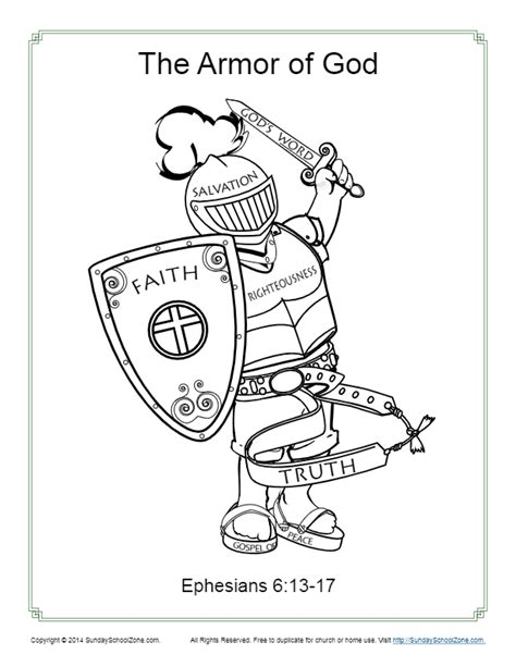 armor of god coloring pages armor of god for coloring page activity