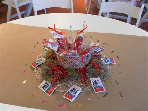 crawfish boil centerpiece event ideas pinterest