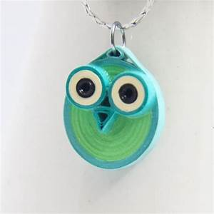Paper Quilled Owl Pendants · How To Make A Paper Bead