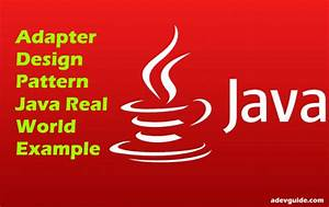 Adapter Design Pattern Java Real World Example  2