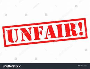 Unfair Red Rubber Stamp Over A White Background. Stock ...