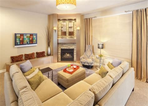 How To Arrange A Living Room With A Corner Fireplace 5
