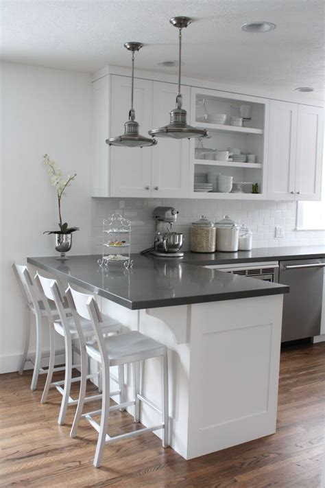 white cabinets subway tile quartz countertops kitchen remodel ideas