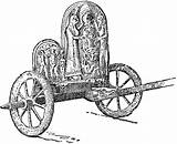 Chariot Clipart Greek Pages Coloring Template Graeco Rome Etc Sketch Outline Emoji Wheels Usf Edu Medium sketch template