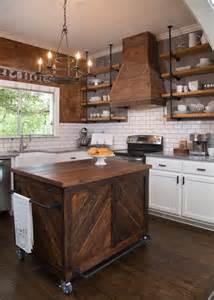 kitchen island with open shelves barn board kitchen island design ideas