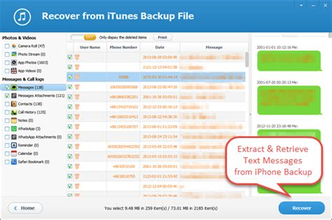 save texts from iphone how to extract and retrieve text messages from iphone backup