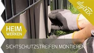 Sichtschutzstreifen Zum Einflechten : doppelstabmattenzaun sichtschutzstreifen anbringen youtube ~ A.2002-acura-tl-radio.info Haus und Dekorationen
