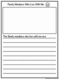 All About My Family Writing Book Template For K 2 Free