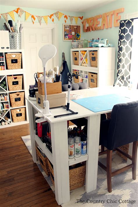 my craft room plus more craft room tours the country chic cottage
