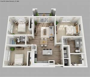 Three Bedroom Apartment 3d Floor Plans | Floor Plans and ...