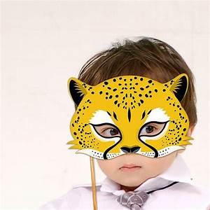 cheetah mask printable jaguar leopard animal masks With cheetah face mask template